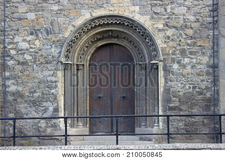 Door Of Christchirch Cathedral Of Dublin, Ireland