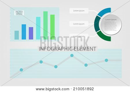 Business graph infographics and circle banners vector illustration. can be used for workflow layout and for modern business or web design. EPS10