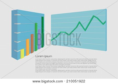 Business graph infographics vector illustration. can be used for workflow layout and for modern business or web design. EPS10