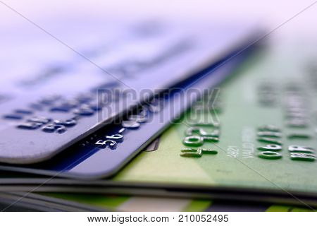 Closer Up Credit card for Background-top view