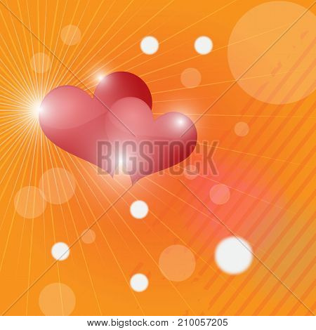 abstract background Two hearts banner eps