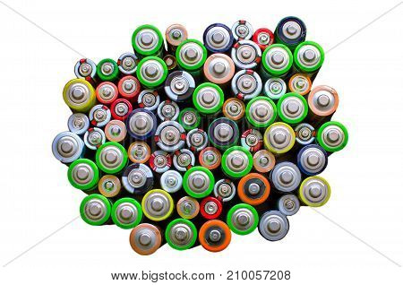 Battery On A Black Background.