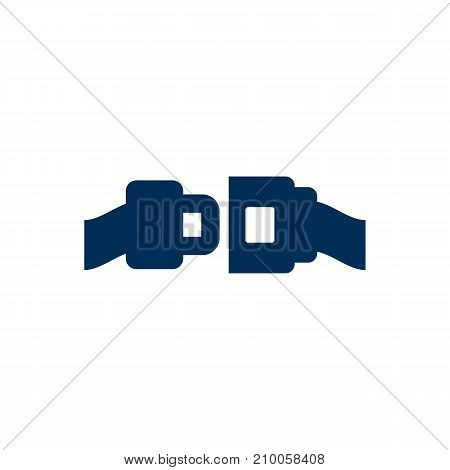 Isolated Safety Belt Icon Symbol On Clean Background