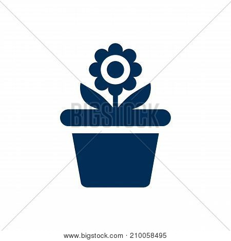 Isolated Plant Pot Icon Symbol On Clean Background