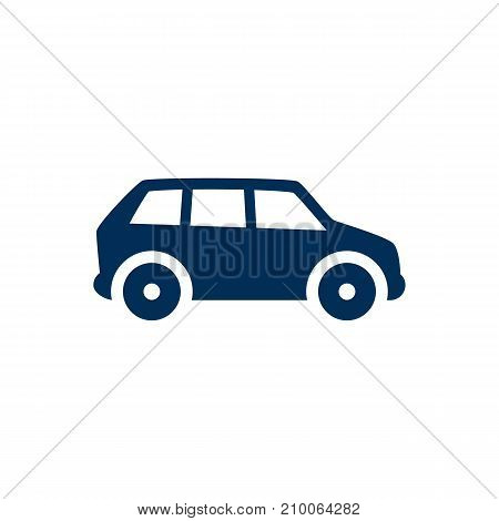Isolated Car Icon Symbol On Clean Background.