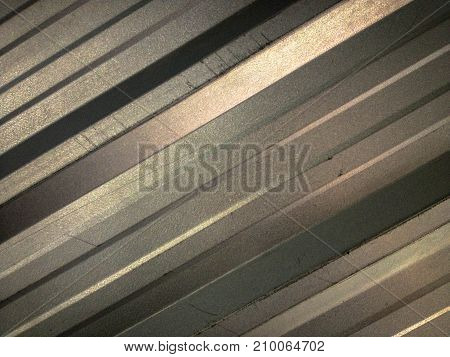 Modern shade of aluminium in shadow tone of dimension.