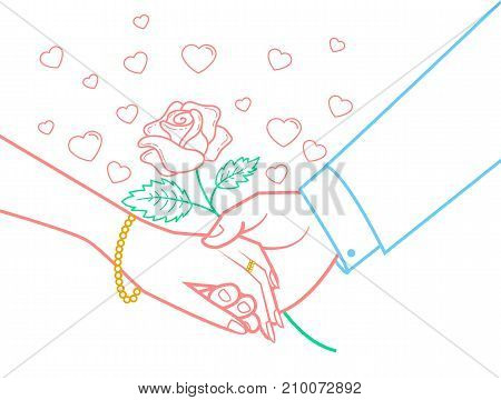 Icon Hands Lovers  Valentine Day