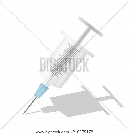 Single syringe icon isolated on white background