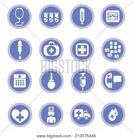 Medical icon set isolated on white background