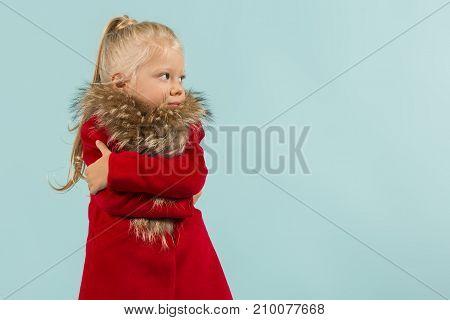 Cute Pretty Girl In Warm Clothes