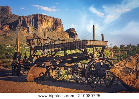 The famous Goldfield Ghost town of Arizona