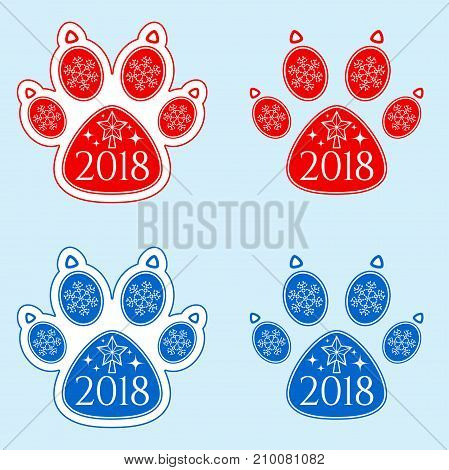 Dog Paw Of New Year 2018
