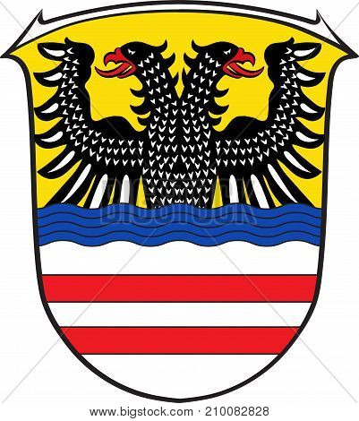 Coat of arms of Wetteraukreis is a district in the middle of Hesse Germany. Vector illustration