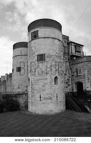 An external view of the old fortress in London