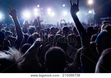 Silhouettes Of People Concert