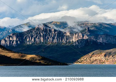 Sunset on Blue Mesa - Colorado Rocky Mountain Scenic Beauty