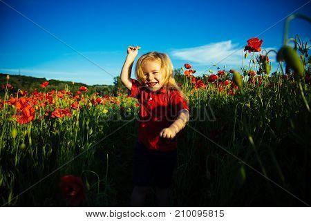 Happy Emotion, Child In Emotional Summer, Emotional Kid