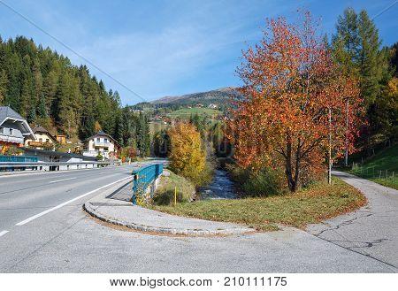 Village Brugg - a part of the town of Rennweg am Katschberg, located in the Katsch Valley (Katschtal) along the Lieser River in Carinthia, Austria.