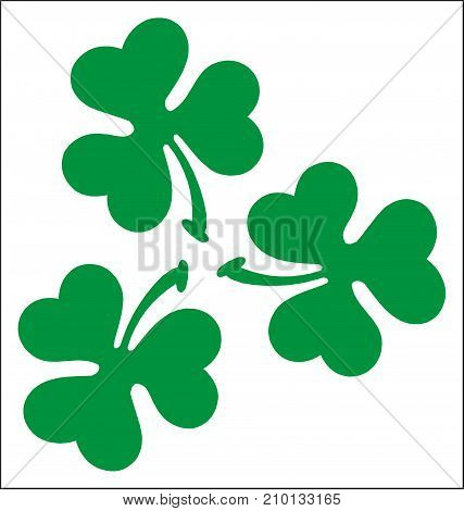 Three Leaf Clovers Vector Photo Free Trial Bigstock