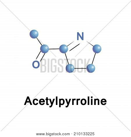Acetyl pyrroline is an aroma compound and flavor that gives white bread jasmine rice and basmati rice the spice pandan and bread flowers their customary smell