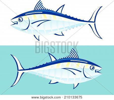 Yellow Fin Tuna Vector Illustration Clip-art Image Eps