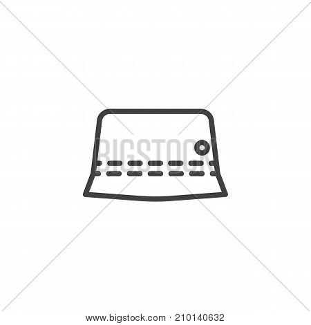 Panama hat line icon, outline vector sign, linear style pictogram isolated on white. Symbol, logo illustration. Editable stroke