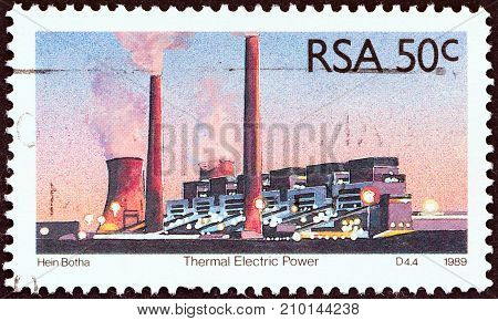 SOUTH AFRICA - CIRCA 1989: A stamp printed in South Africa from the
