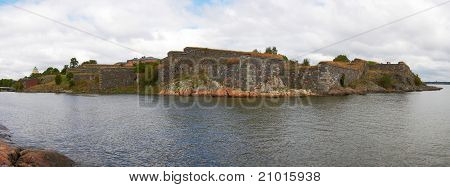 Suomenlinna fortress Panorama in Helsinki, Finland