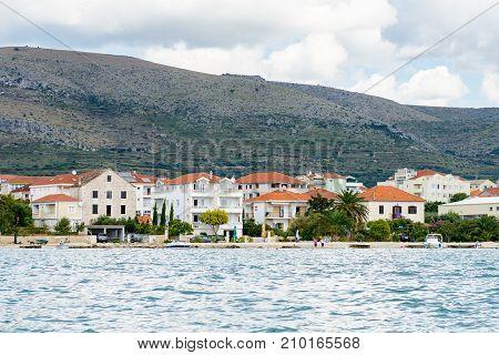 Coast Of The Adriatic Sea In Dalmatia