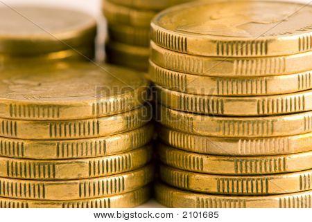 Macro Of Gold Australian Coins