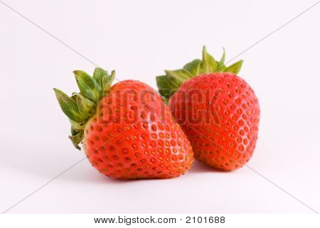Two Red Strawberries