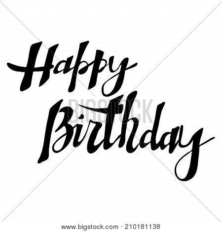 Happy Birthday card, lettering vector illustration, wallper for desctop