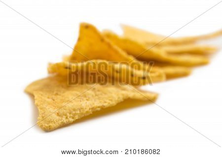 Crispy nachos. Photo can be used as a whole background.