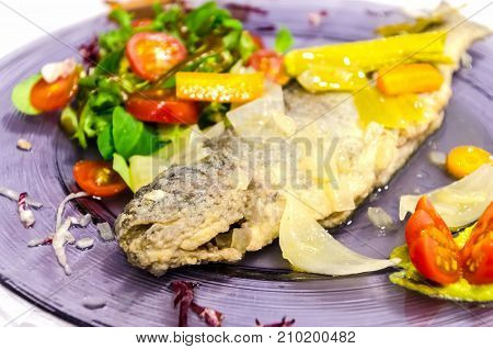 Pickled Trout With Vegetables