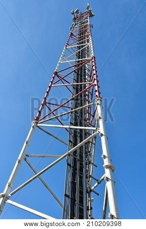 Microwave tower and mobile phone repeater station