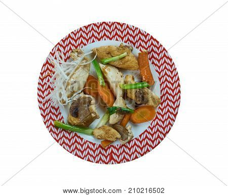 Szechuan stir-fry Chengdu Chicken , close up meal