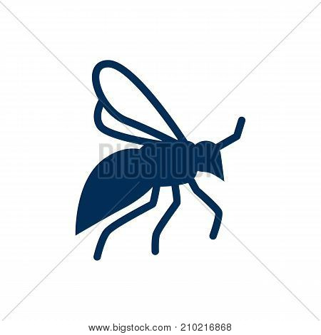 Vector Fly Element In Trendy Style.  Isolated Wisp Icon Symbol On Clean Background.