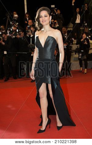 CANNES, FRANCE - MAY 19, 2016: Marion Cotillard  attends the 'It's Only The End Of The World (Juste La Fin Du Monde)'  premiere during the 69th annual Cannes Film Festival at the Palais des Festivals