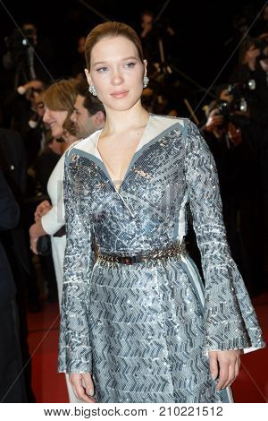 CANNES, FRANCE - MAY 19, 2016: Lea Seydoux  attends the 'It's Only The End Of The World (Juste La Fin Du Monde)'  premiere during the 69th annual Cannes Film Festival at the Palais des Festivals