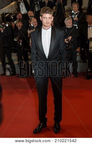 CANNES, FRANCE - MAY 19, 2016: Guest attends the 'It's Only The End Of The World (Juste La Fin Du Monde)'  premiere during the 69th annual Cannes Film Festival at the Palais des Festivals
