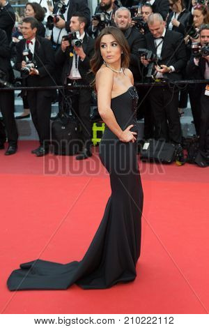 CANNES, FRANCE - MAY 12, 2016: Eva Longoria  attends the 'Money Monster' Premiere. 69th annual Cannes Film Festival at the Palais des Festivals