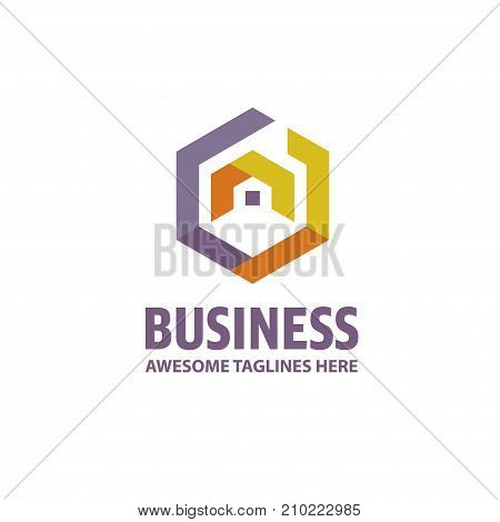 creative Real Estate logo, Property and Construction Logo design Vector, colorful homes logo concept, hexagon house logo vector