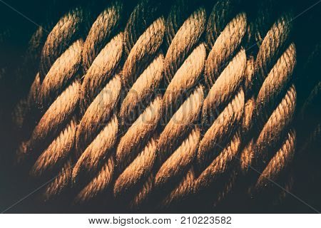 Grunge rope background, abstract textured wallpaper, vintage style interior detail, old sailboat rope