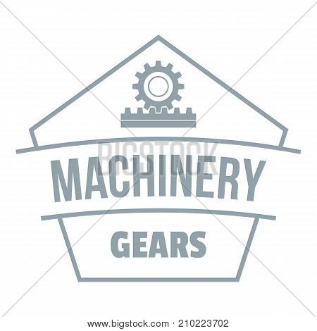 Machinery logo. Simple illustration of machinery vector logo for web