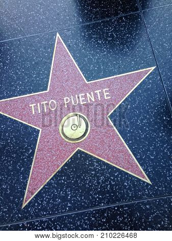 Tito Puente Hollywood Walk Of Fame Star.