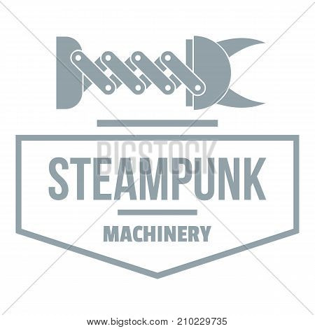 Steampunk machinery logo. Simple illustration of steampunk machinery vector logo for web