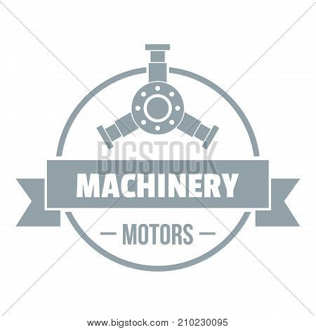 Motor machinery logo. Simple illustration of motor machinery vector logo for web
