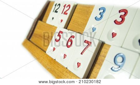 Turkey okey game with white background and numbers