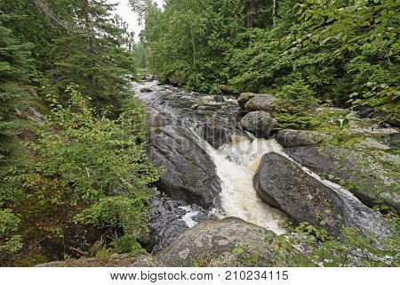 Roaring Waters in the Pines of the Boundary Waters in Minnesota