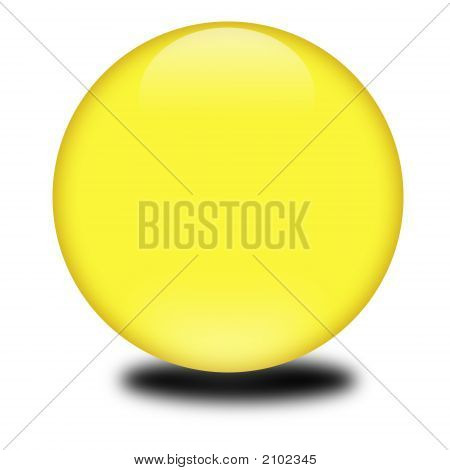 3D Yellow Colored Sphere